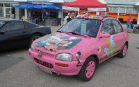 Pinkki auto Alavus Rysköillä